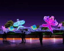 自贡大奖娱乐官网首页设计制作公司的光雕氛围大奖娱乐官网首页——光雕风筝
